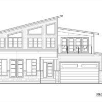Washington Residence Front Elevation by KW Design