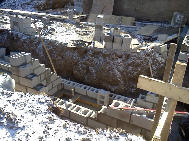 Everything in the septic pit will be buried below the basement