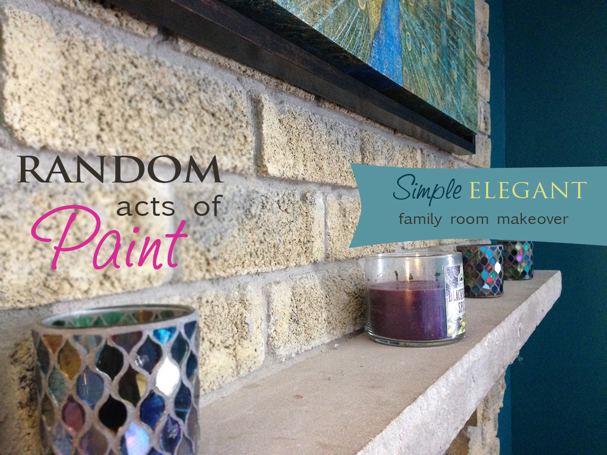 Random Acts of Paint: An Elegant Family Room Makeover