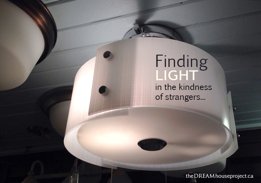 Finding 'light' in the kindness of strangers…