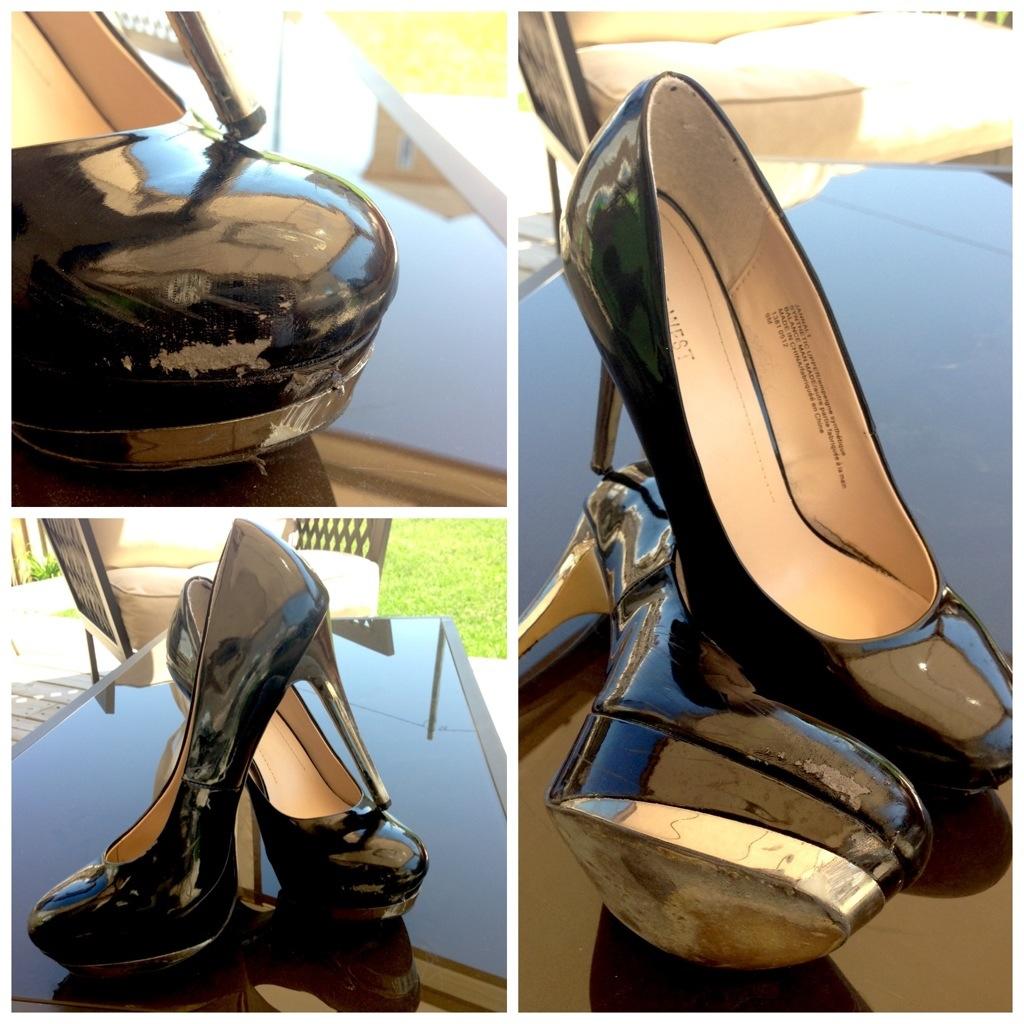 Ruined high heels