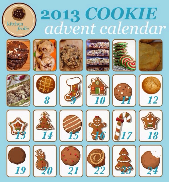 kitchen frolic Cookie Advent Calendar 2013 class=