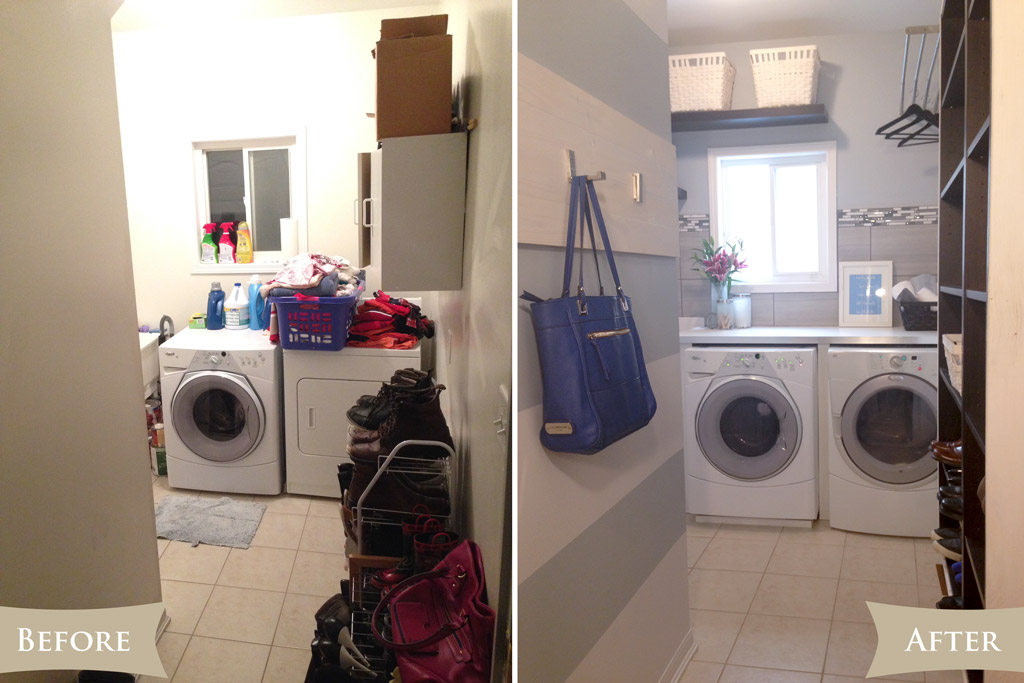 Laundry room reveal - before & after