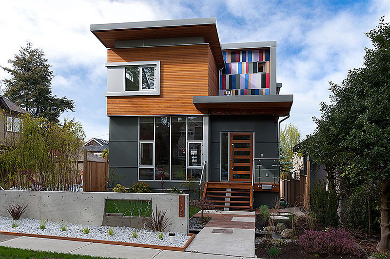 gorgeous modern home w cedar siding fibre cement exterior cladding