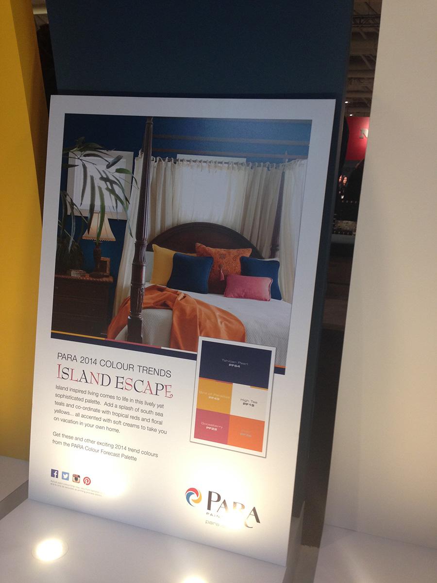 PARA Island Escape 2014 colour trend palette