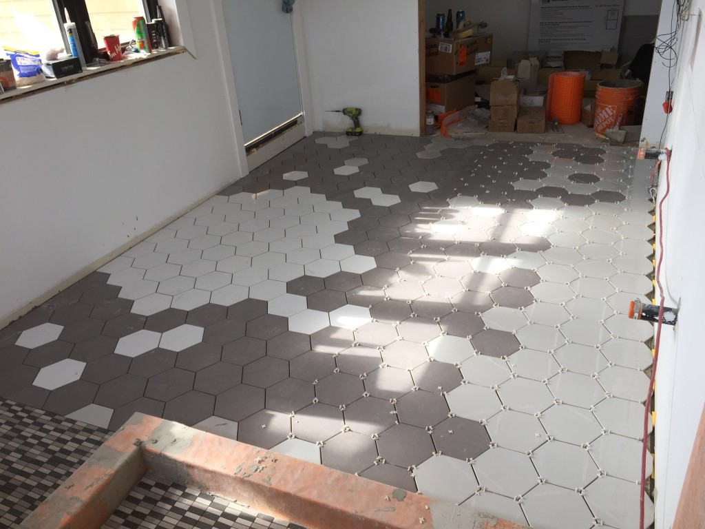 Creating a hex tile pattern floor | The Dreamhouse Project