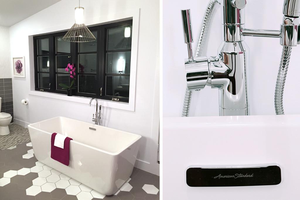Loft freestanding tub & tub filler by American Standard - Master Bath Retreat   The Dreamhouse Project