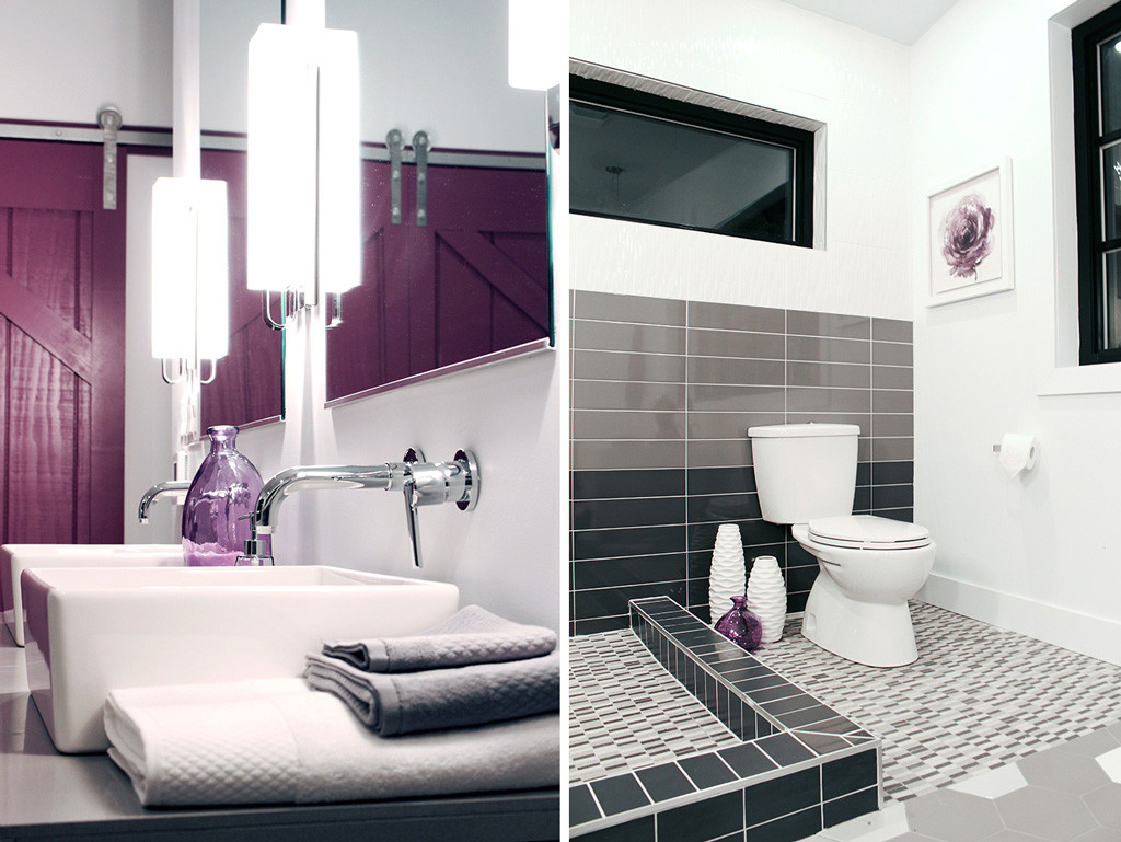 Delta Trinsic wall mounted faucets & American Standard toilet - Master Bath Retreat   The Dreamhouse Project
