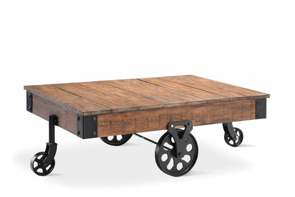 DIY Dilemma option 1: Modern industrial coffee table via lawsh.net