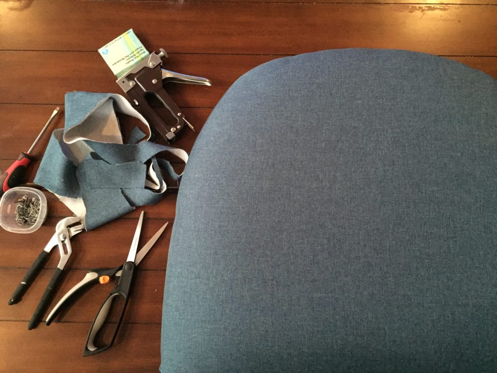Re-upholstering occasional chairs