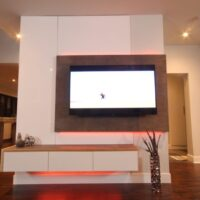 Dreamhouse Project DIY media wall LED lights red