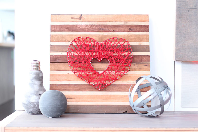 DIY Valentine String Art by The Dreamhouse Project