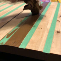 Staining backing board