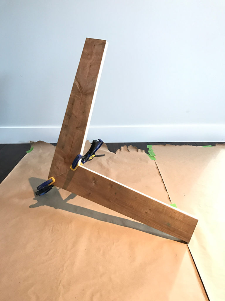 L-frame joined & clamped