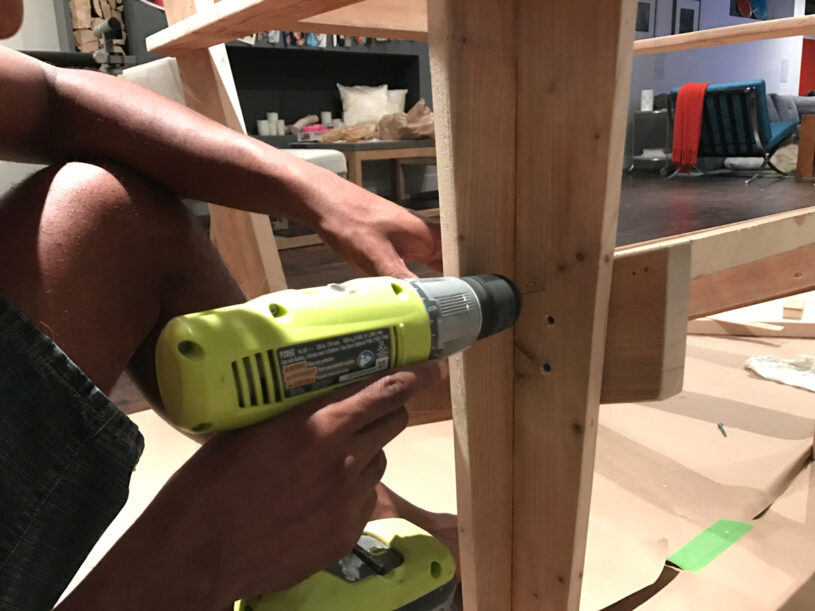 """Secure horizontal boards with 2"""" screws"""