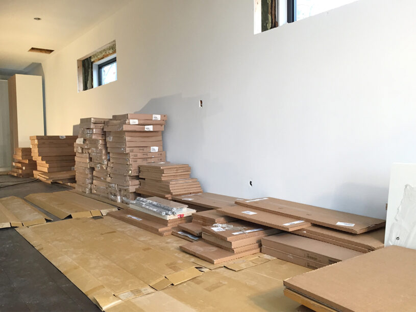 Our kitchen - in 376 boxes
