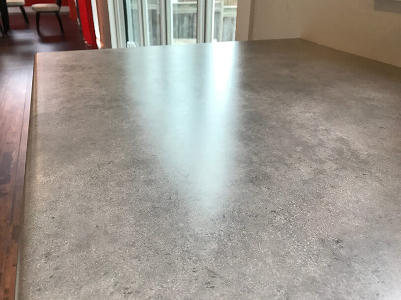 Our current grey laminate countertop