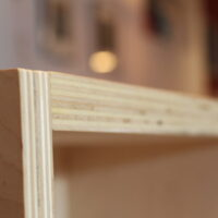 Close up of the finished plywood edge