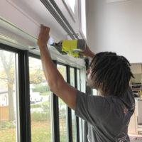 Kes installing our Metrie window moulding