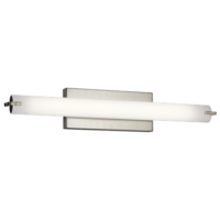 26in Linear LED Bath Light in Brushed Nickel