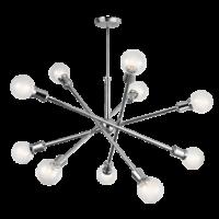 Kichler Armstrong 10 Light Chandelier in Chrome